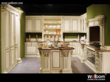 European Style Antique White Kitchen Island Design