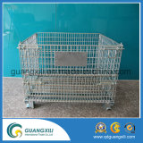Foldable and Collapsible Steel Storage Cage Wire Mesh Container for Storage