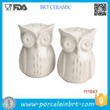 Cheap Animal Owl White Ceramic Spice Jar