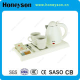Plastic Electric Kettle with Tea Tray for Hotel Use