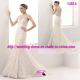 Charming Spaghetti Strap Lace Wedding Derss with Hole Back