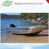 4.2m Dinghy Welded Aluminium Alloy Boat Recreational Vessel Boat for Family Fishing