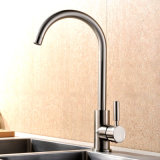 Contemporary Brass Chrome Single Hole Handle Deck Mounted Kitchen Faucet