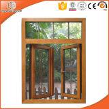 American Style Solid Oak Wood Aluminum Casement Window, Maintenance-Free Perfect Wood Effect Casement Window