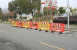 Red and Yellow Plastic Traffic Fence Barrier