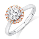 Two Tone 925 Sterling Silver Jewelry Silver Rings with CZ