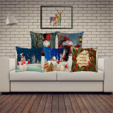 Imitated Silk Fabric Merry Christmas Carton Cushion Colorful Design Cushion