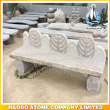 Stone Bench with Hand Carved Leaves