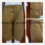 100%Cotton Colorful Solid Color Casual Cargo Shorts for Man