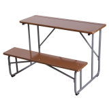 MDF Double Table with Attached Seats/School Furniture