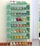 Portable Shoe Rack Closet with Fabric Cover Shoe Storage Organizer Cabinet
