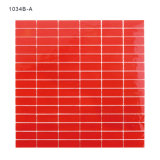 3 mm Thickness Red Glass Mosaic Tile for Home Decoration