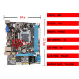 H61-1155 Support 2*DDR3 Mainboard with Good Market in Bangladesh