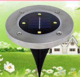 Solar Powered Ground Lamp with Four LED Lights
