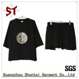 2017 Fashion Casual Embroidered Set of Short T-Shirt, Shorts Pants