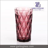 Machine Pressed Colorful Soda Lime Glass Water Tumbler