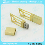 2017 New Design Gold Innovative Building USB Flash Drive (ZYF1747)