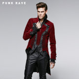 Gothic Dark Rose Coat with Worsted Material (Y-569)