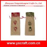 Christmas Decoration (ZY16Y141-1-2 34X14.5CM) Christmas Wine Pocket Christmas Ornament Parts