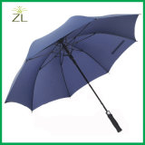 Custom Logo 190t Nylon Fabric Material Fiberglass Golf Umbrella for Promotional