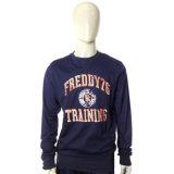 Hot Sale Men′s Blue Fleece Sweatshirts with Printing