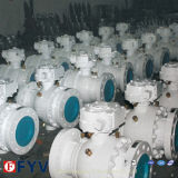 API 6D 3PCS Top Entry Ball Valve with Turbine