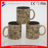 Stocked 20oz Cylinder Shape Mug with Emboss Decal Printing