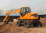 8t High Quality 4X4wd Wheel Excavator for Sale