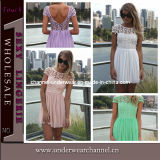 Wholesale Women Lace Low Back Summer Dresses (TONY8012)