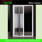 Hot Withe Finished Aluminium Alloy New Design Folding Stall Shower Screen (TL-417)