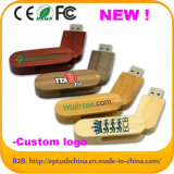 Wood Swivel USB Flash Drive with Custom Logo (EW064)