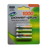 UL, RoHS Approved Rechargeable Consumer NiMH Battery H-AAA 1000mAh