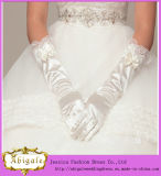 New Fashion Satin Medium Length Full Finger Wedding Glove (MI 3564)