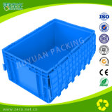 Blue Color EU Container with Hinged Lid Plastic Box