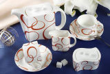 15 Pieces Porcelain Coffee Set (LFR6426)