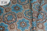 Asia Blue Chenille Pattern Jacquard Fabric (FTH31952)