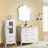 Single Sink Bathroom Furniture with Side Cabinet