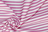Pink/White Stripes 60 Cotton 40 Polyester Twill Yarn Dyed Fabric