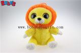 Big Eyes Yellow Lion Plush Stuffed Animal Toy in Wholesale Price Bos1171