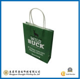 Green Color Kraft Paper Bag (GJ-Bag037)