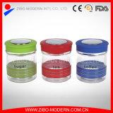 Wholesale Glass Storage Jar with Color Plastic Lid
