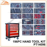 Powertec 196PC Hand Tool Kit with Metal Cabinet (PT14096)