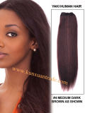 18 Inches Yaki Straight Brazilian Hair Virgin Remy Human Hair Extensions