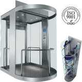 1.75m/S Sightseeing Elevator Passenger Lift with Small Machine Room