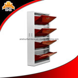 New Design 4 Level Door Metal Shoe Storage Cabinet