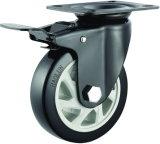 4/5 Inch PVC Brake Caster for Trolley
