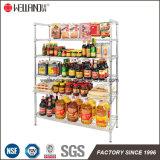 Heavy Duty Chrome Metal Steel Grocery Supermarket Display Shelf