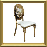 Wholesale Design Hollow Round Metal Back Wedding Banquet Dining Chairs