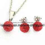 Stainless Steel Fashion Shamballa Crystal Jewelry Set