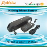 Hailong Style 48V 13ah Lithium Ion Battery with USD Port for Phone